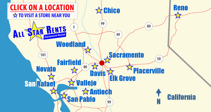 Placerville California Map.Tool And Equipment Rental Store Placerville California Equipment